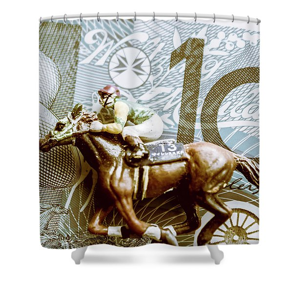 Melbourne Cup Wager Shower Curtain
