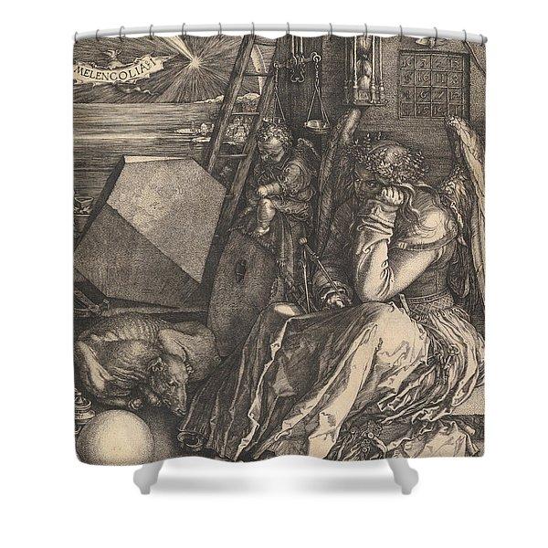 Melencolia I, 1514  Shower Curtain