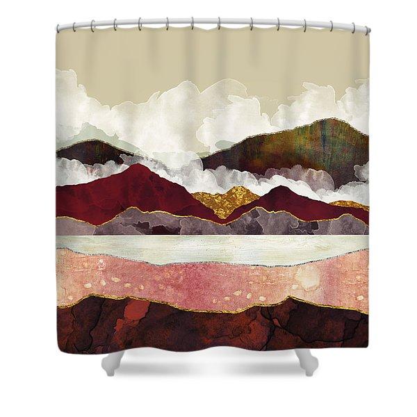Melon Mountains Shower Curtain
