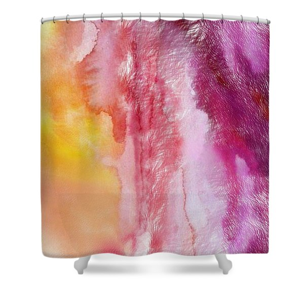 Shower Curtain featuring the painting Melting by Mark Taylor