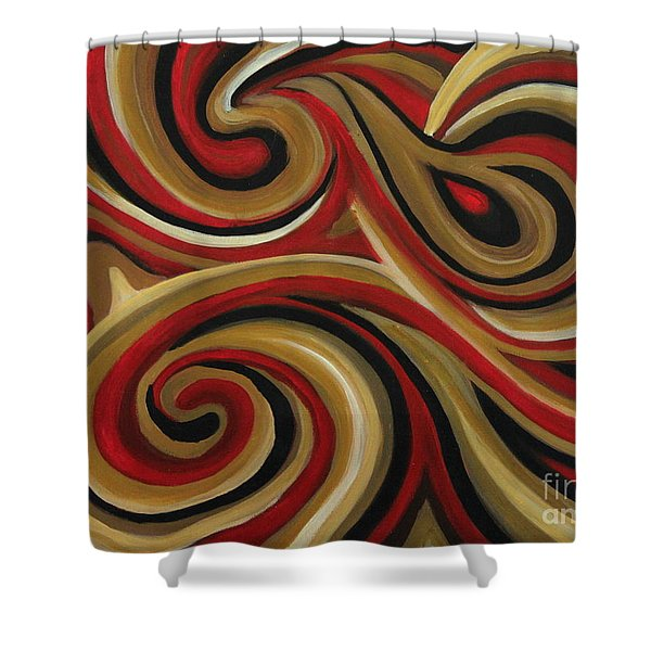 Melting Pool Shower Curtain