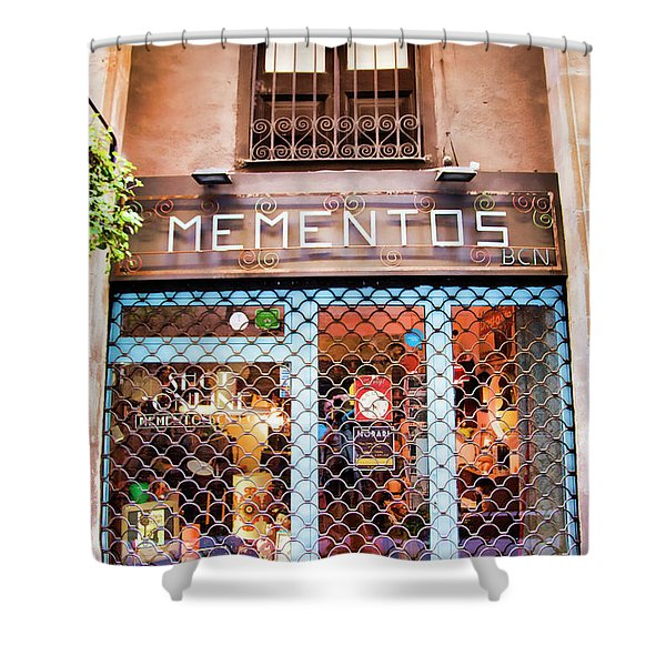 Mementos Shop Barcelona  Shower Curtain