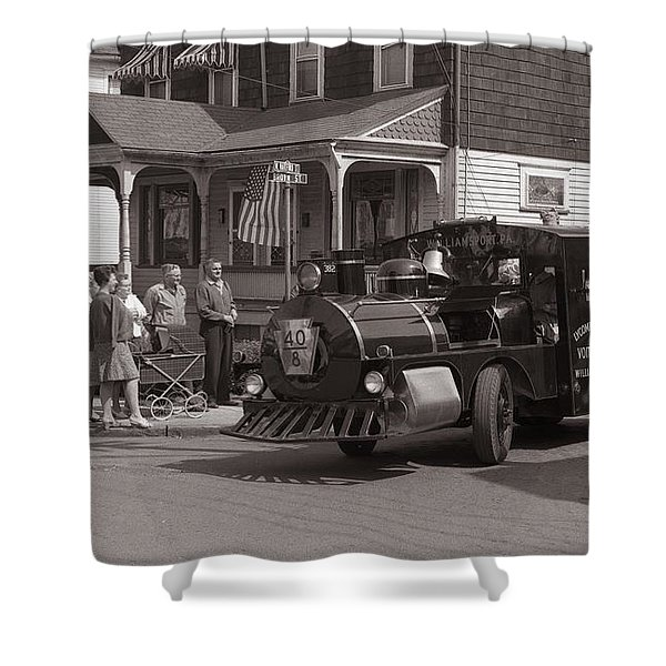 Memorial Day Parade  Ashley Pa  Corner Of W Hartford And Brown  Circa 1965 Shower Curtain