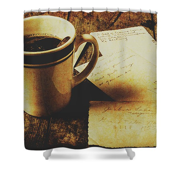 Memories And Past Notes Shower Curtain