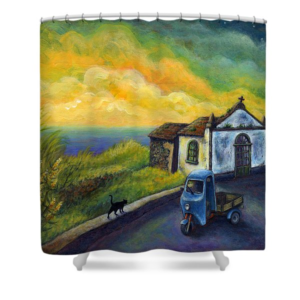 Memories Neath A Yellow Sky Shower Curtain