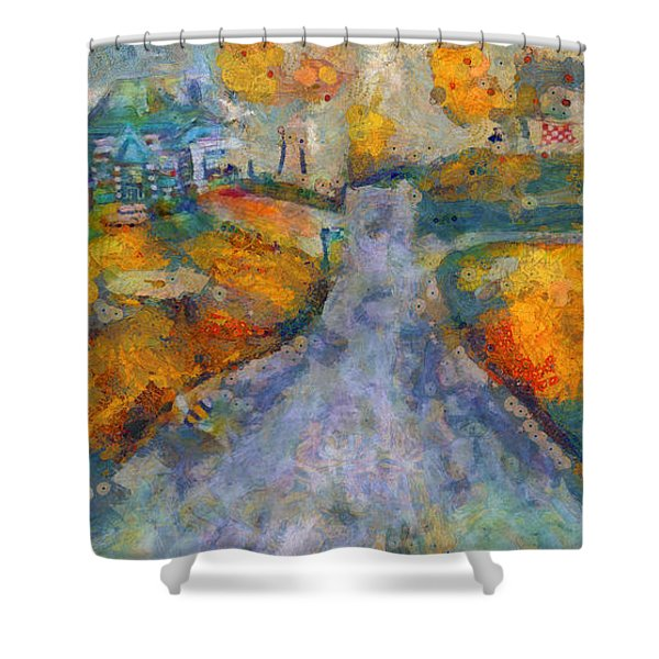 Memories Of Home In Autumn Shower Curtain