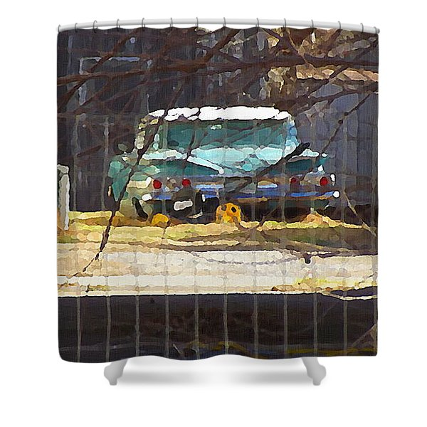 Memories Of Old Blue, A Car In Shantytown.  Shower Curtain