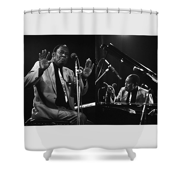 Memphis Slim Shower Curtain