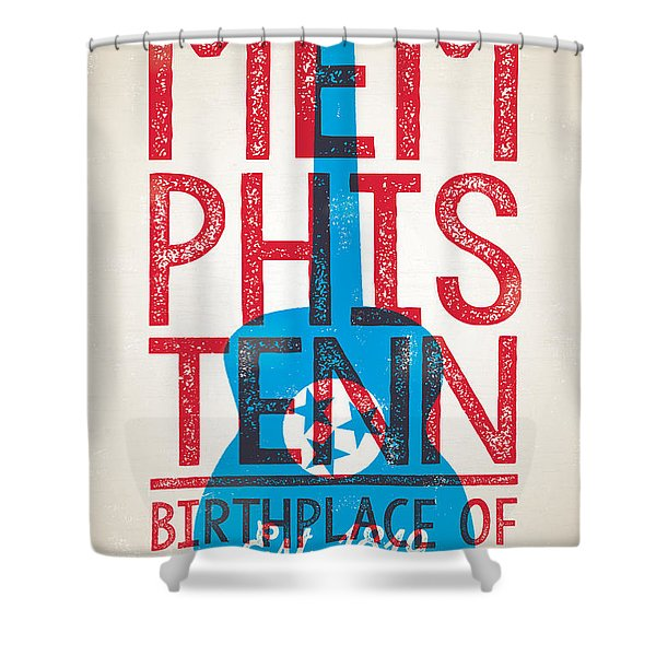 Memphis Poster - Tennessee Shower Curtain