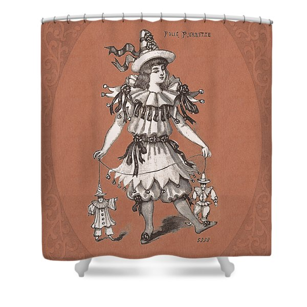 Men Are Puppets To This Pierrette Shower Curtain