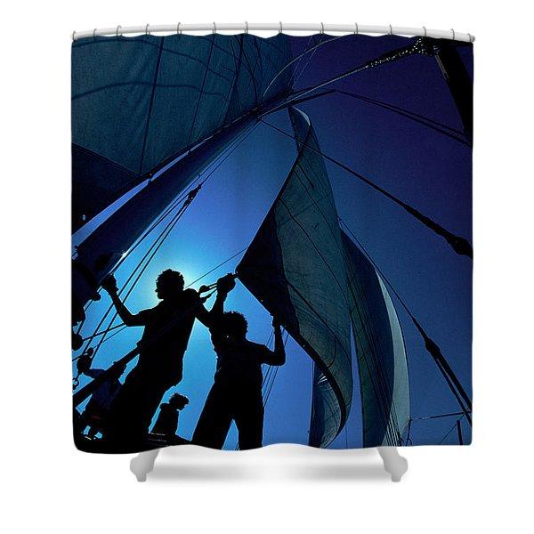 Men At Work Shower Curtain