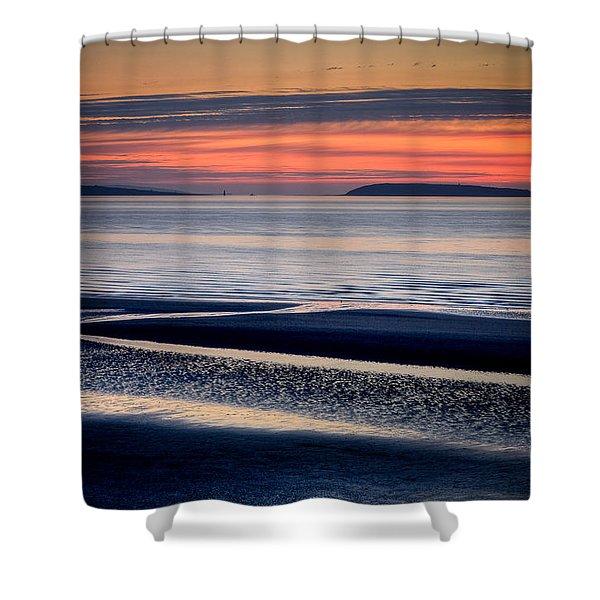 Menai Strait Shower Curtain