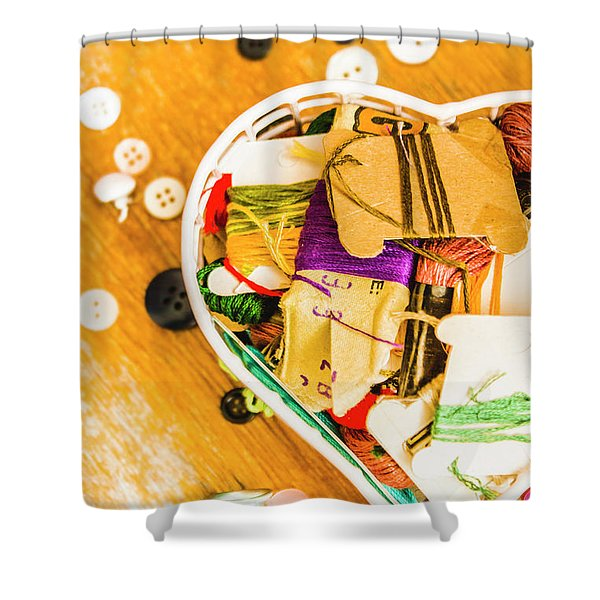 Mending Hearts Shower Curtain