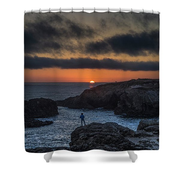 Mendocino Sunset Shower Curtain