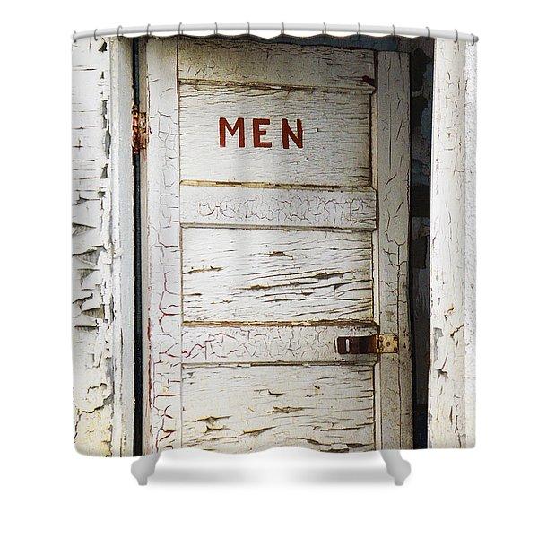 Men's Room Shower Curtain