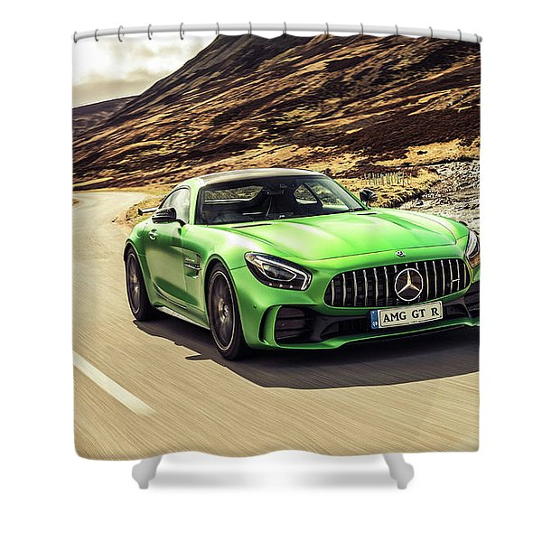 Mercedes A M G  G T  R Shower Curtain