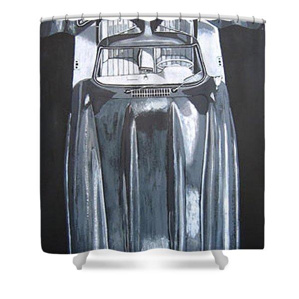 Mercedes Benz Gullwing Shower Curtain