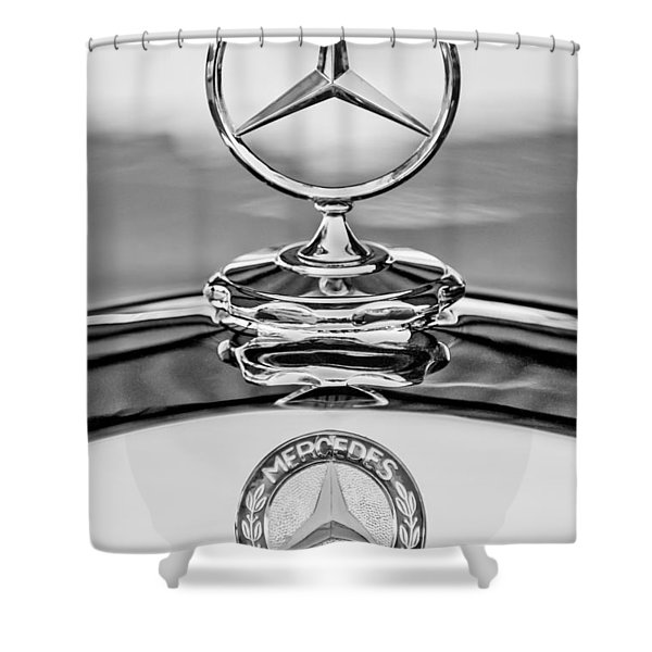 Mercedes Benz Hood Ornament 2 Shower Curtain
