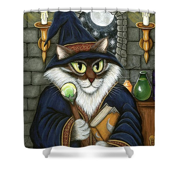 Merlin The Magician Cat Shower Curtain