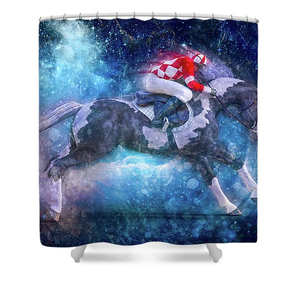 Merlin's Compass By Betsy Knapp Shower Curtain