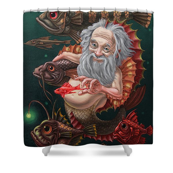Merman Shower Curtain