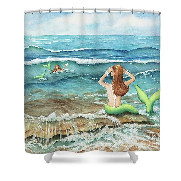 Mermomma Of Two Shower Curtain