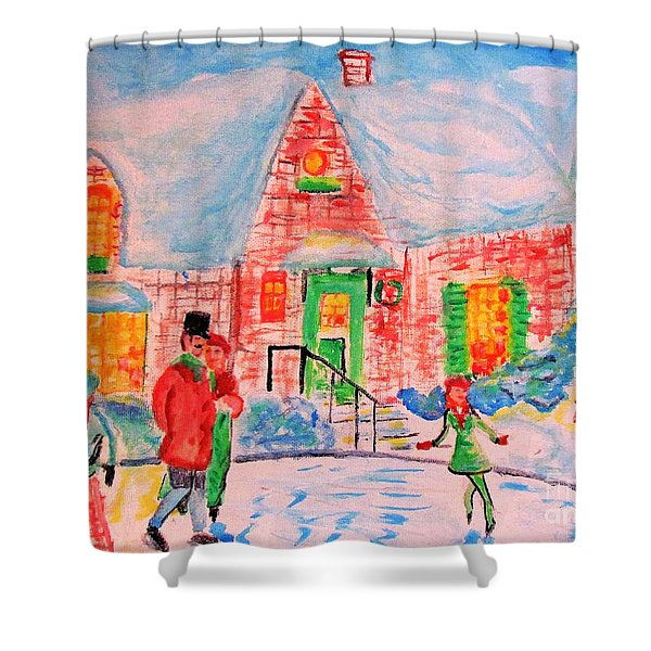 Merry Christmas And Happy Holidays Shower Curtain