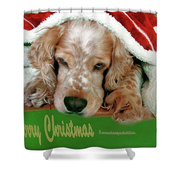 Merry Christmas Art 32 Shower Curtain