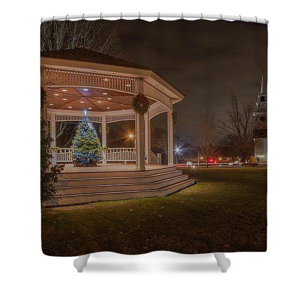 Merry Christmas From Milton Massachuetts Shower Curtain