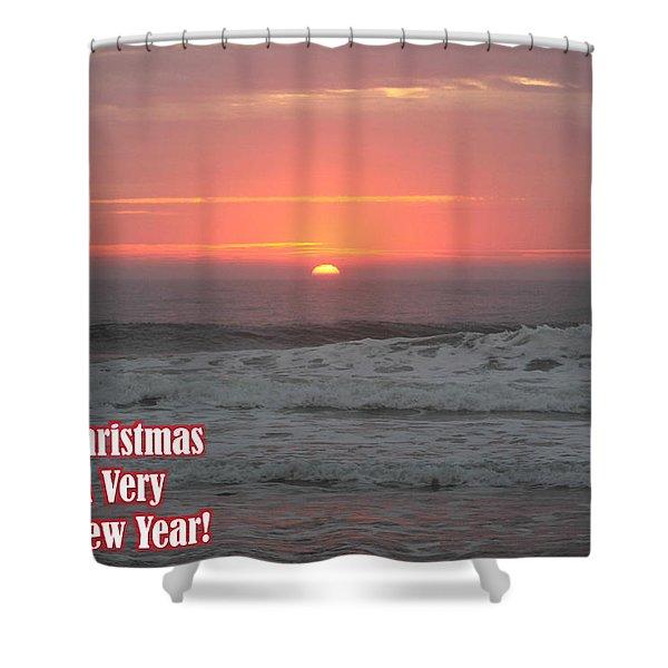 Merry Christmas Sunrise  Shower Curtain