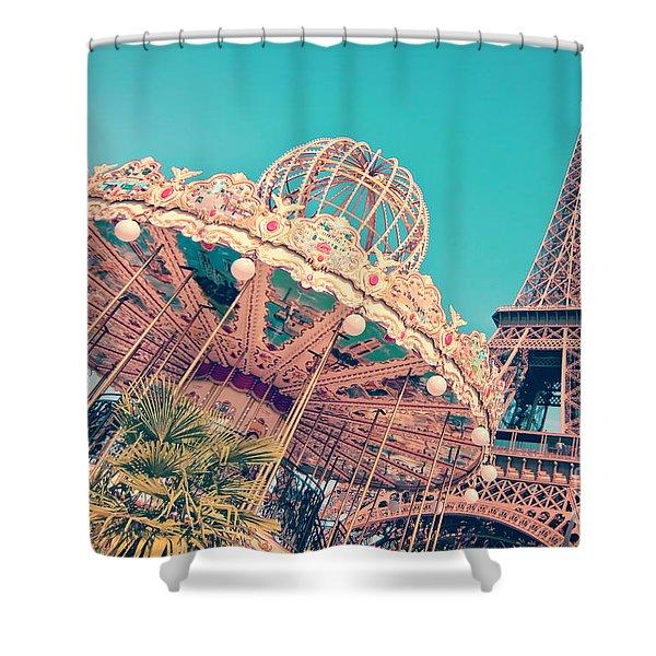 Merry Go Paris Shower Curtain