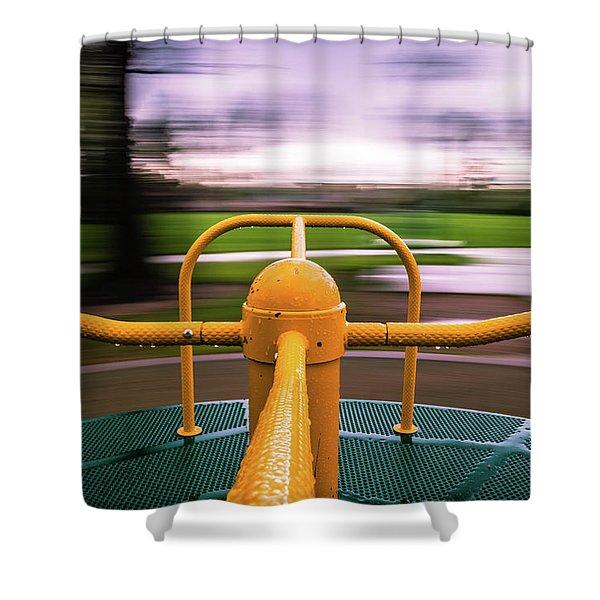 Merry Go Round Shower Curtain