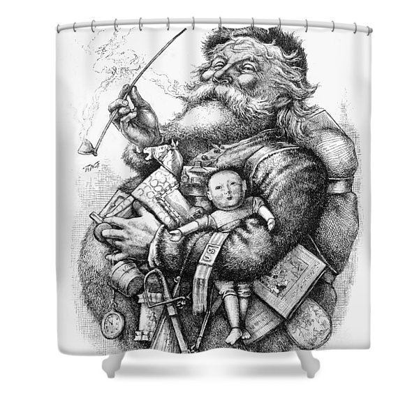 Merry Old Santa Claus Shower Curtain