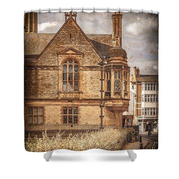 Oxford, England - Merton Street Shower Curtain