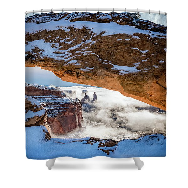 Mesa Arch In The Snow Shower Curtain