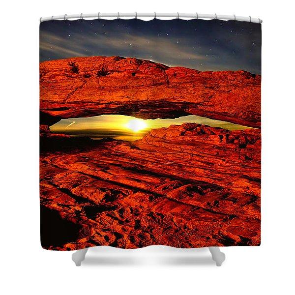 Mesa Arch Moonshine Shower Curtain