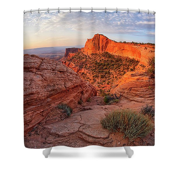 Mesa Arch Overlook At Dawn Shower Curtain
