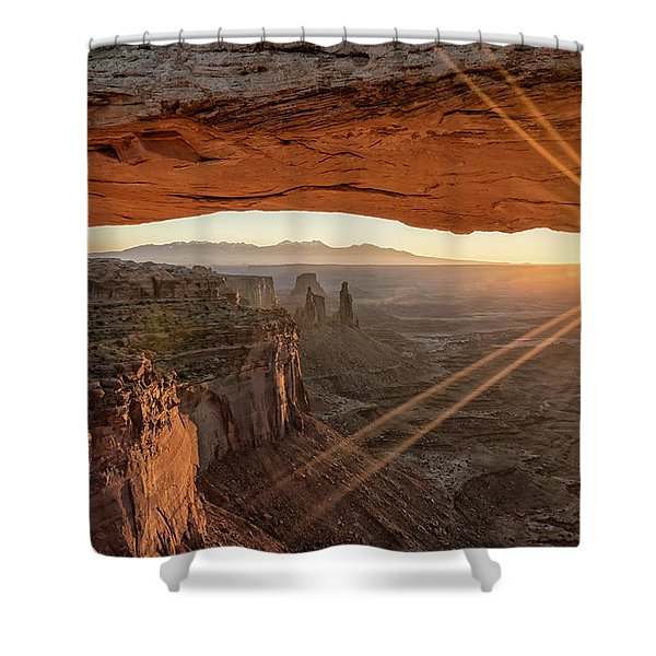 Mesa Arch Sunrise 4 - Canyonlands National Park - Moab Utah Shower Curtain