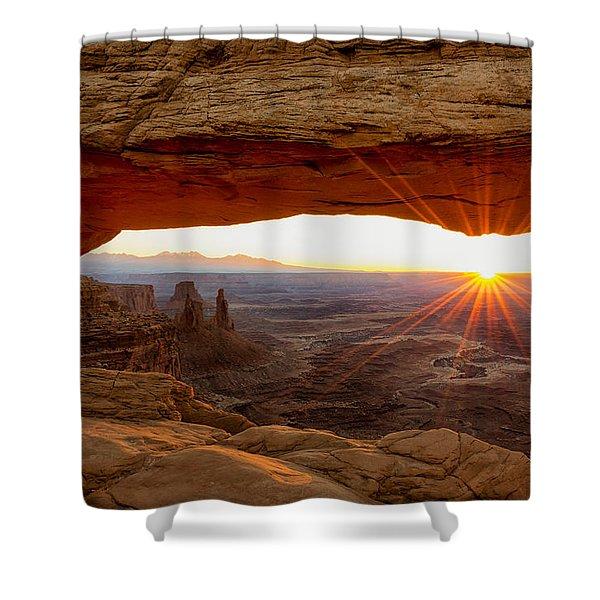 Mesa Arch Sunrise - Canyonlands National Park - Moab Utah Shower Curtain