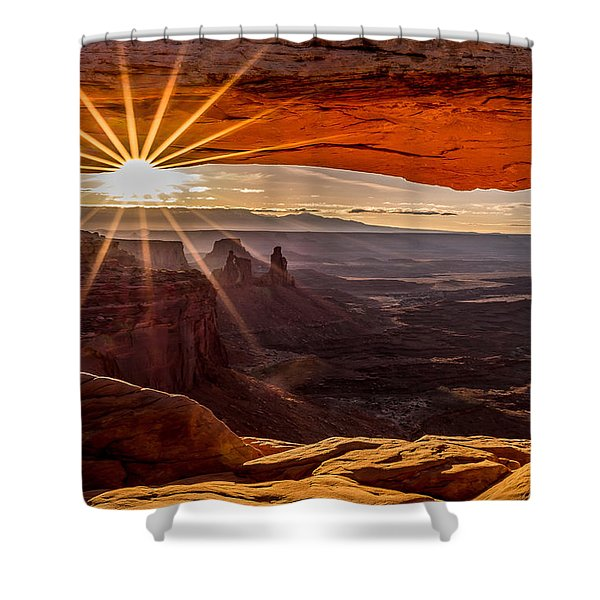 Mesa Arch Triptych Panel 2/3  Shower Curtain