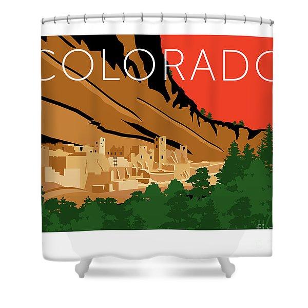 Mesa Verde Orange Shower Curtain