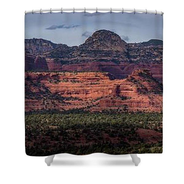 Mescal Mountain Panorama Shower Curtain