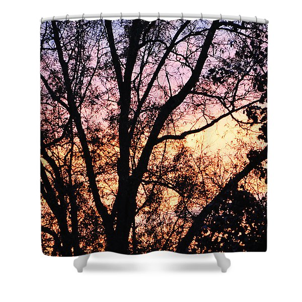 Shower Curtain featuring the photograph Mesmerizing Sunset by Gerlinde Keating - Galleria GK Keating Associates Inc