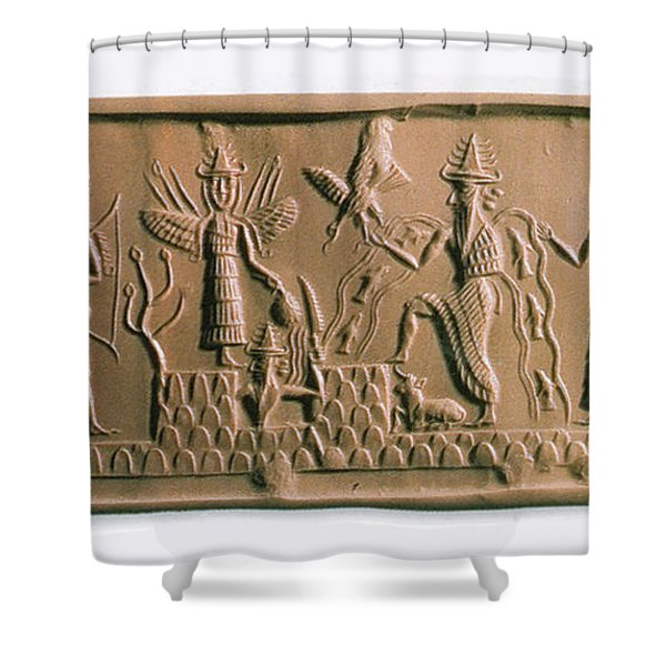 Mesopotamian Gods Shower Curtain
