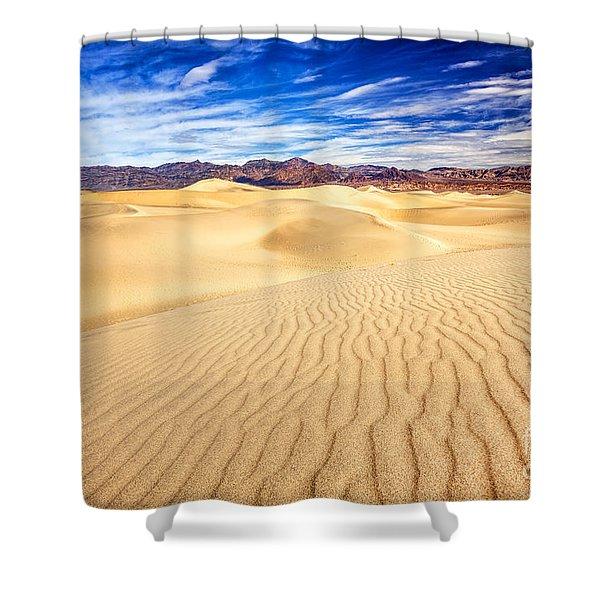 Mesquite Flat Sand Dunes In Death Valley Shower Curtain