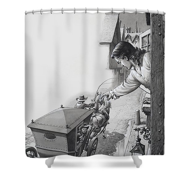 Messenger In The Night Shower Curtain