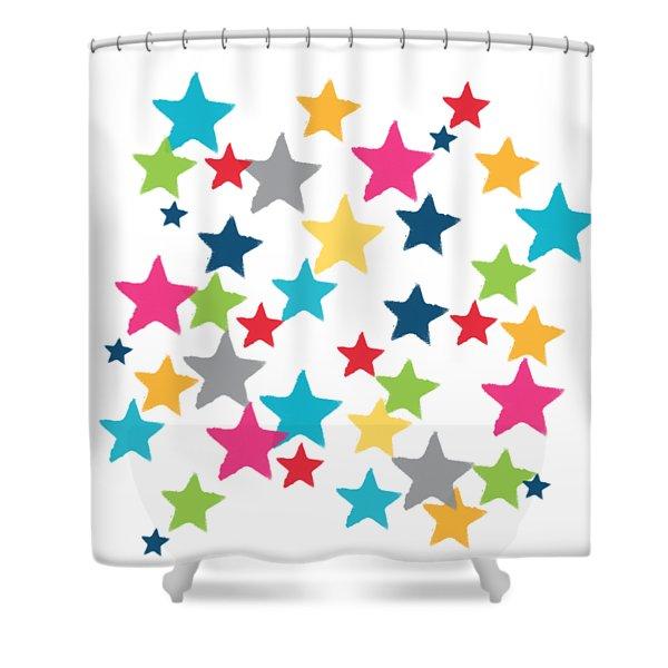 Messy Stars- Shirt Shower Curtain