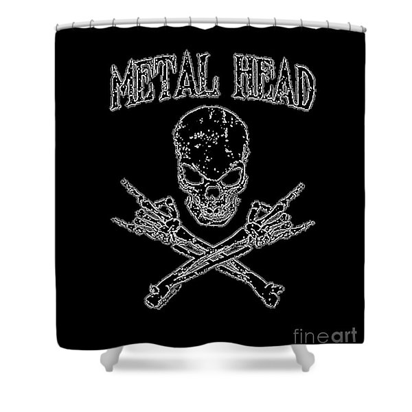 Metal Head Shower Curtain