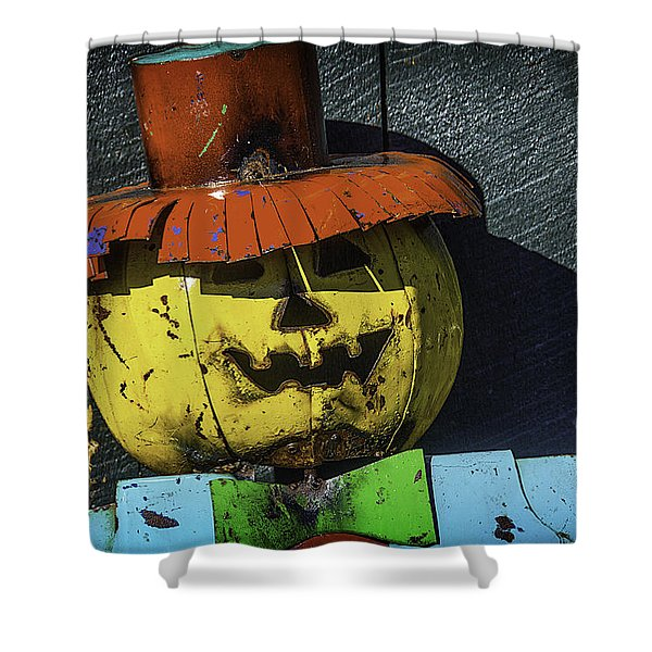 Metal Scarecrow Shower Curtain