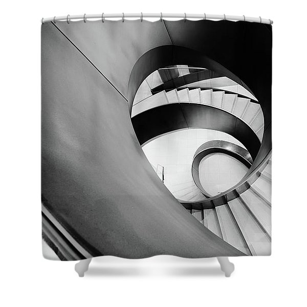 Metal Spiral Staircase London Shower Curtain